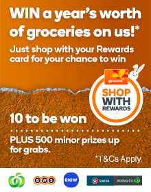 Competitions promotions woolworths win a years worth of groceries on us t and cs apply negle Image collections