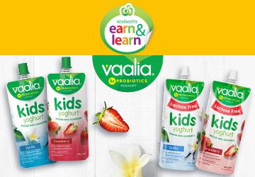 Earn & Learn - Vaalia Kids Yoghurt.